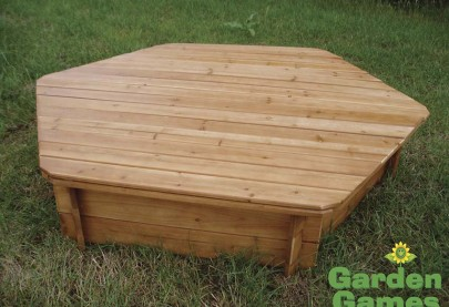 New Style two part sandbox wooden lid